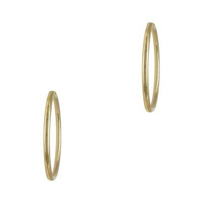 Κίτρινα Χρυσά Σκουλαρίκια Κρίκοι Κ14 SK703