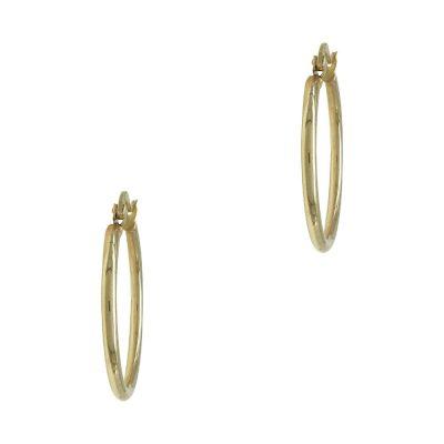 Κίτρινα Χρυσά Σκουλαρίκια Κρίκοι Κ14 SK705