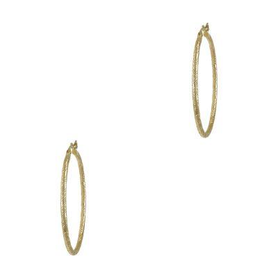 Κίτρινα Χρυσά Σκουλαρίκια Κρίκοι Κ14 SK707