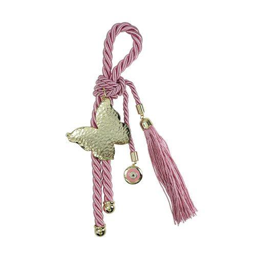 Παιδικό Γούρι Ροζ με Φορεματάκι και Ματάκι GR299  29a5c03406d