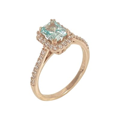 Ροζ Χρυσό Δαχτυλίδι Ροζέτα Κ14 DX625