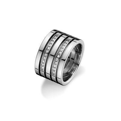TOMMY HILFIGER Γυναικείο Ατσάλινο Δαχτυλίδι Με Πέτρες 2701026