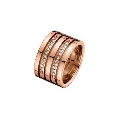 TOMMY HILFIGER Γυναικείο Ροζ Επιχρυσωμένο Ατσάλινο Δαχτυλίδι 2701028D