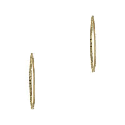 Κίτρινα Χρυσά Σκουλαρίκια Κρίκοι Κ14 SK696