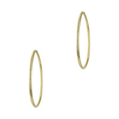 Κίτρινα Χρυσά Σκουλαρίκια Κρίκοι Κ14 SK700