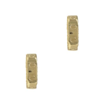 Κίτρινα Χρυσά Σκουλαρίκια Κρίκοι Κ14 SK720