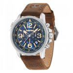 TIMBERLAND Campton II Multifunction Brown Leather Strap 15129JS-03