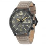 TIMBERLAND Rutherford Multifunction Brown Leather Strap 15266JSB-79