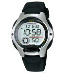 Casio Collection Black Leather Strap LW-200-1AV