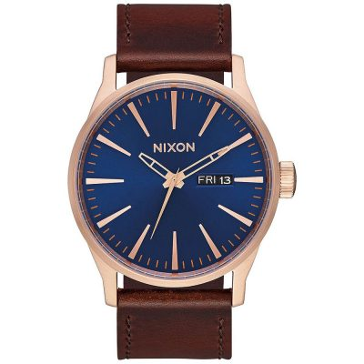 NIXON Sentry Brown Leather Strap A105-2867