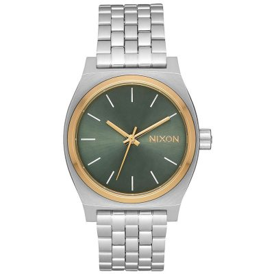NIXON Time Teller Silver Stainless Steel Bracelet A1130-2877