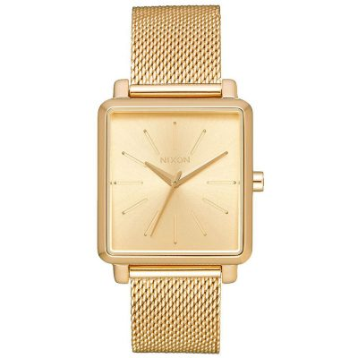 NIXON K Squared Milanese Gold Stainless Steel Bracelet A1206-502