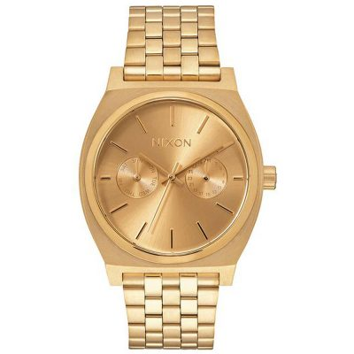 NIXON Small Time Teller Gold Stainless Steel Bracelet A922-502
