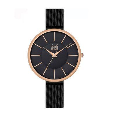 VISETTI Symmetry Black Stainless Steel Bracelet RI-479RB