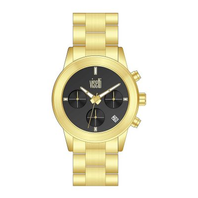 VISETTI Μinimal Gold Stainless Steel Bracelet ZE-996GB