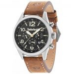 TIMBERLAND Ashmont Multifunction Brown Leather Strap 15249JS-02