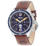 TIMBERLAND Gloucester Multifunction Brown Leather Strap 15255JS-03