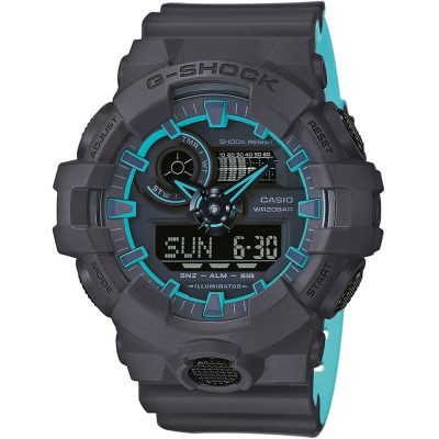 CASIO G-SHOCK Chronograph Black Rubber Strap GA-700SE-1A2ER