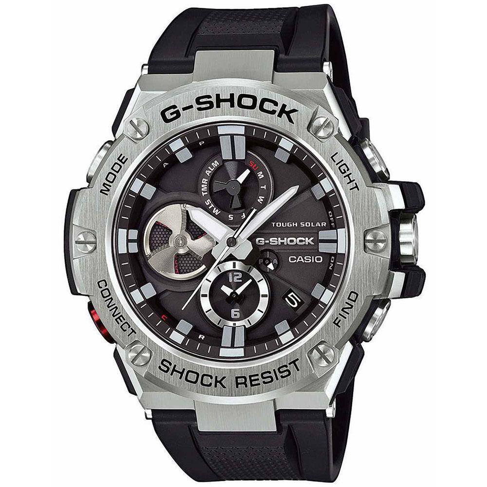 CASIO G-SHOCK Βlack Rubber Strap GST-B100-1AER
