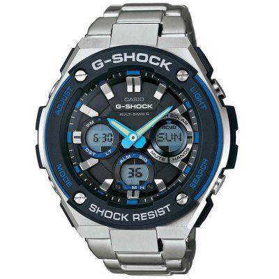 CASIO G-SHOCK Silver Stainless Steel Bracelet GST-W100D-1A2ER