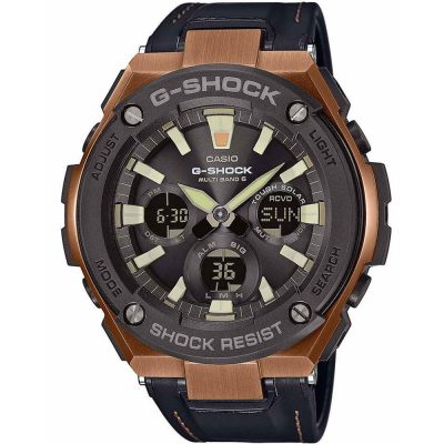CASIO G-SHOCK Black Leather Strap GST-W120L-1AER