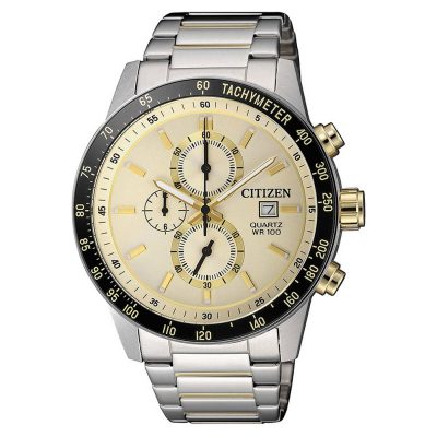 CITIZEN Urban Chronograph Two Tone Stainless Steel Bracelet AN3604-58A