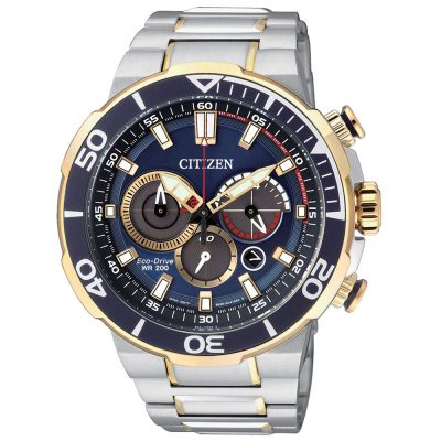 CITIZEN Eco Drive Chronograph Stainless Steel Bracelet CA4254-53L