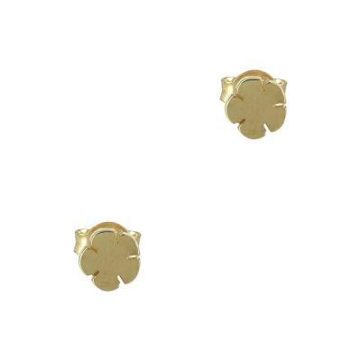 Kίτρινα Χρυσά Παιδικά Σκουλαρίκια Κ9 PSK340