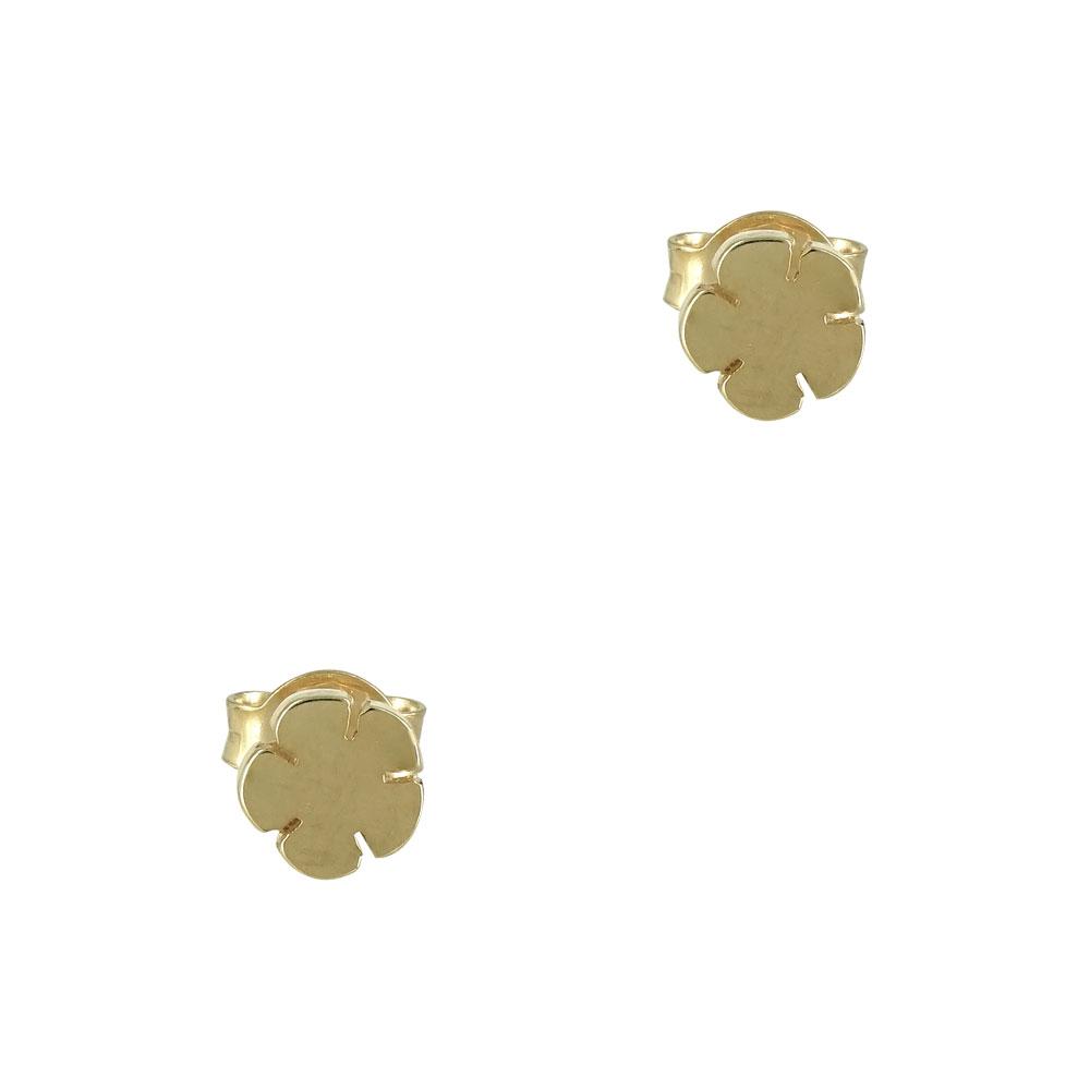Kίτρινα Χρυσά Παιδικά Σκουλαρίκια Κ9 PSK340  8de5cca24d2