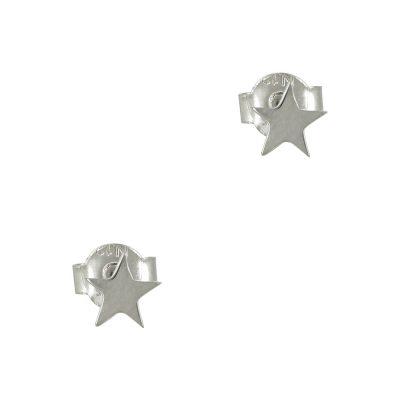 Λευκόχρυσα Παιδικά Σκουλαρίκια Αστεράκια Κ9 ΡSK330