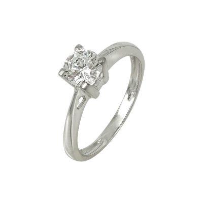 Λευκόχρυσο Μονόπετρο Δαχτυλίδι Κ14 DX637