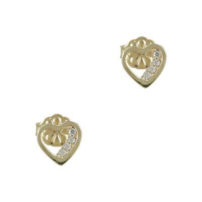 Κίτρινα Χρυσά Παιδικά Σκουλαρίκια Κ14 PSK341