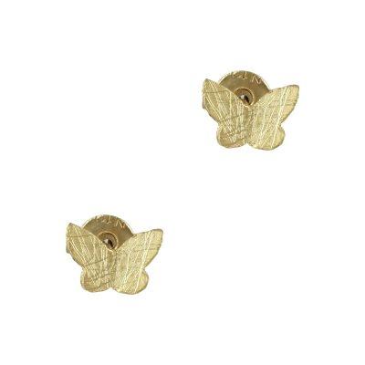 Κίτρινα Χρυσά Παιδικά Σκουλαρίκια Πεταλούδα Κ9 PSK325