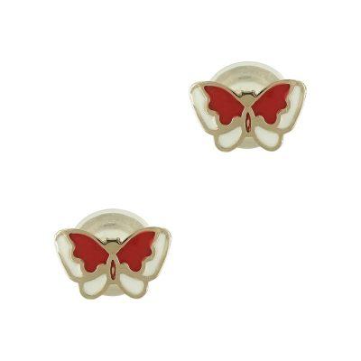Κίτρινα Χρυσά Παιδικά Σκουλαρίκια Πεταλουδίτσες PSK285