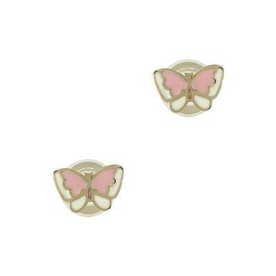 Κίτρινα Χρυσά Παιδικά Σκουλαρίκια Πεταλουδίτσες PSK296