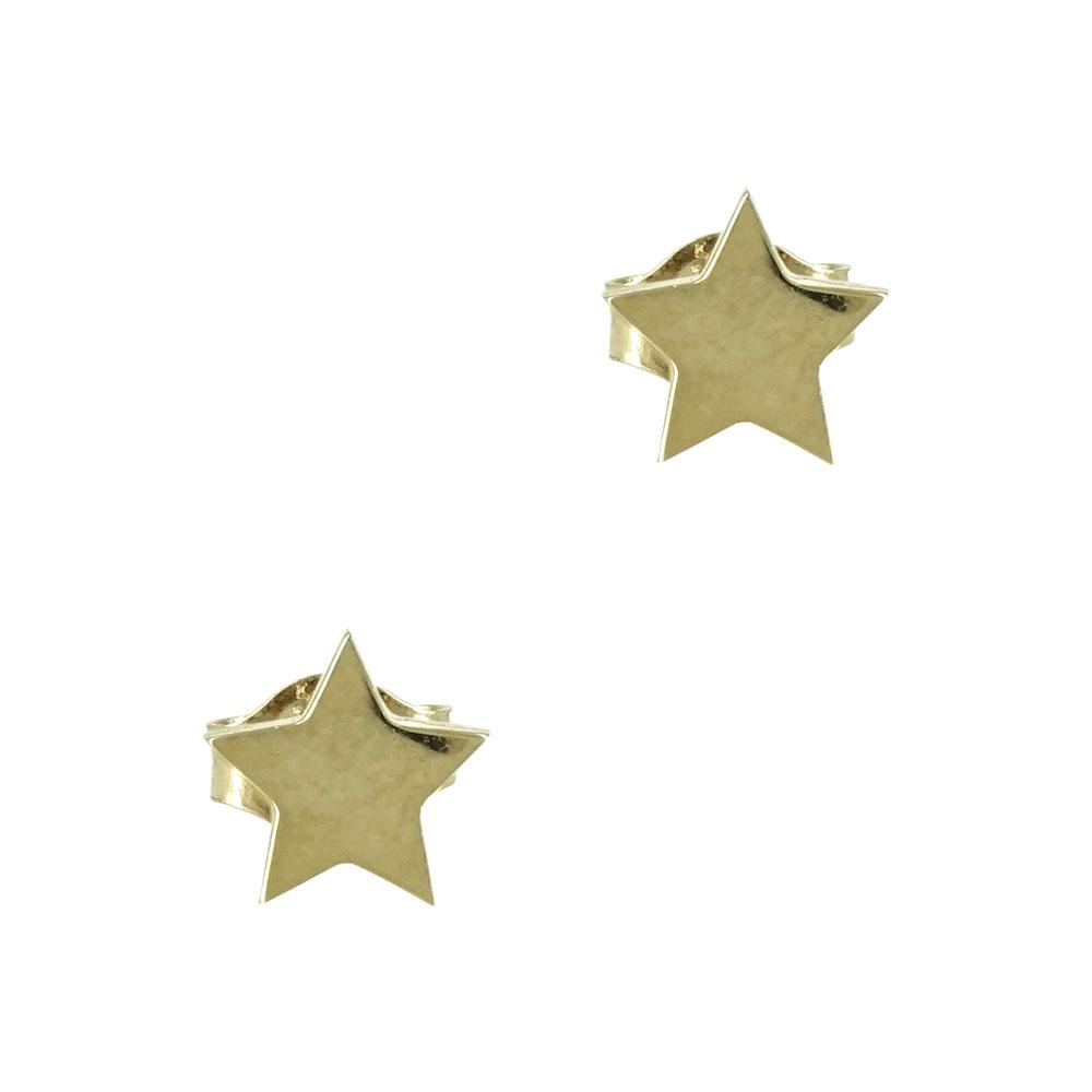 Κίτρινα Χρυσά Παιδικά Σκουλαρίκια Αστεράκια PSK299