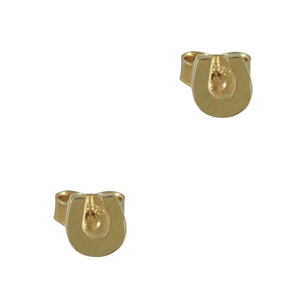 Κίτρινα Χρυσά Παιδικά Σκουλαρίκια Πέταλο Κ9 PSK328