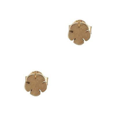 Ροζ Χρυσά Παιδικά Σκουλαρίκια Κ9 PSK331