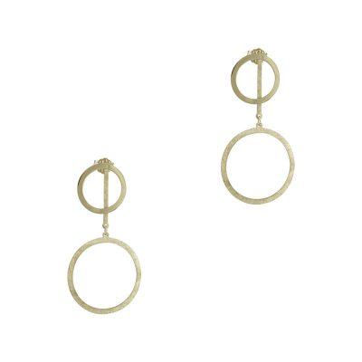 Κίτρινα Χρυσά Σκουλαρίκια Κ14 SK750