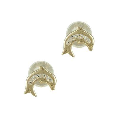 Κίτρινα Χρυσά Παιδικά Σκουλαρίκια Κορώνες PSK284