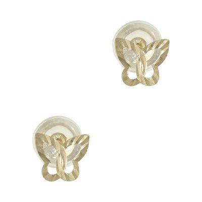 Κίτρινα Χρυσά Παιδικά Σκουλαρίκια Πεταλουδίτσες PSK292