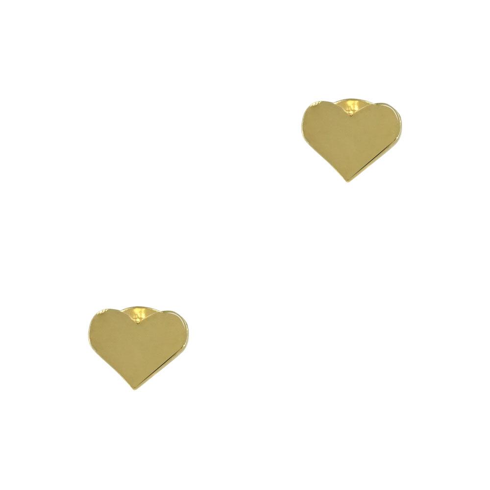 Κίτρινα Χρυσά Παιδικά Σκουλαρίκια Καρδούλα Κ9 PSK333