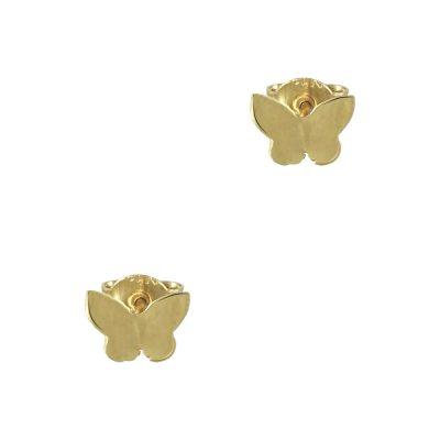 Κίτρινα Χρυσά Παιδικά Σκουλαρίκια Πεταλούδα Κ9 PSK336