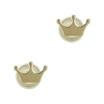 Κίτρινα Χρυσά Παιδικά Σκουλαρίκια Κορώνες PSK283