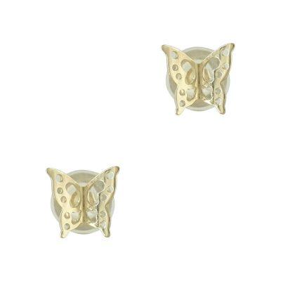 Κίτρινα Χρυσά Παιδικά Σκουλαρίκια Πεταλουδίτσες PSK289