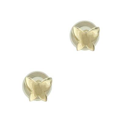 Κίτρινα Χρυσά Παιδικά Σκουλαρίκια Πεταλουδίτσες PSK294