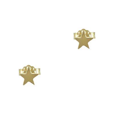 Κίτρινα Χρυσά Παιδικά Σκουλαρίκια Αστεράκι Κ9 PSK339