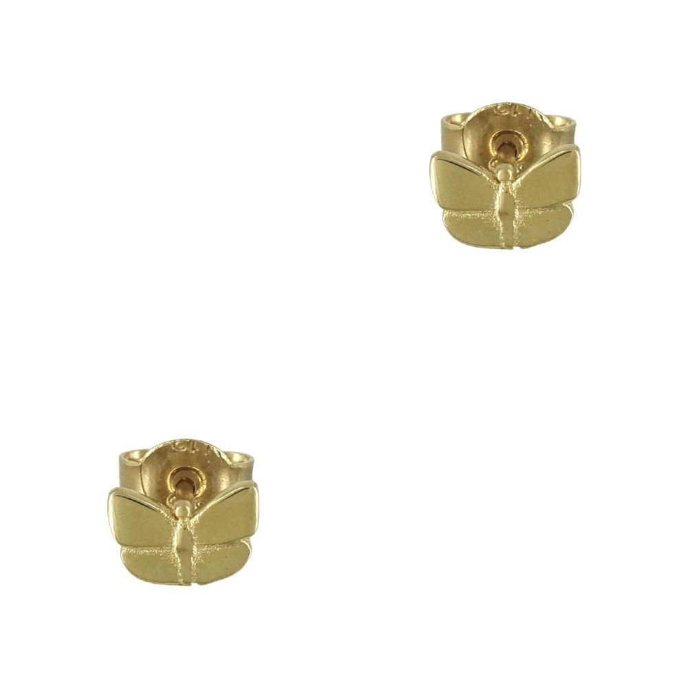 Κίτρινα Χρυσά Παιδικά Σκουλαρίκια Πεταλούδα Κ9 PSK332