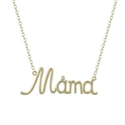 Κίτρινο Χρυσό Κολιέ Μαμά Κ9 KL649