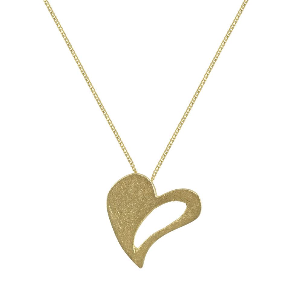 Κίτρινο Χρυσό Μενταγιόν Καρδιά Κ14/18 Μ407